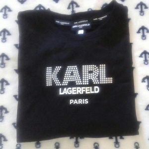 Karl Lagerfeld Long Sleeve Black Tee